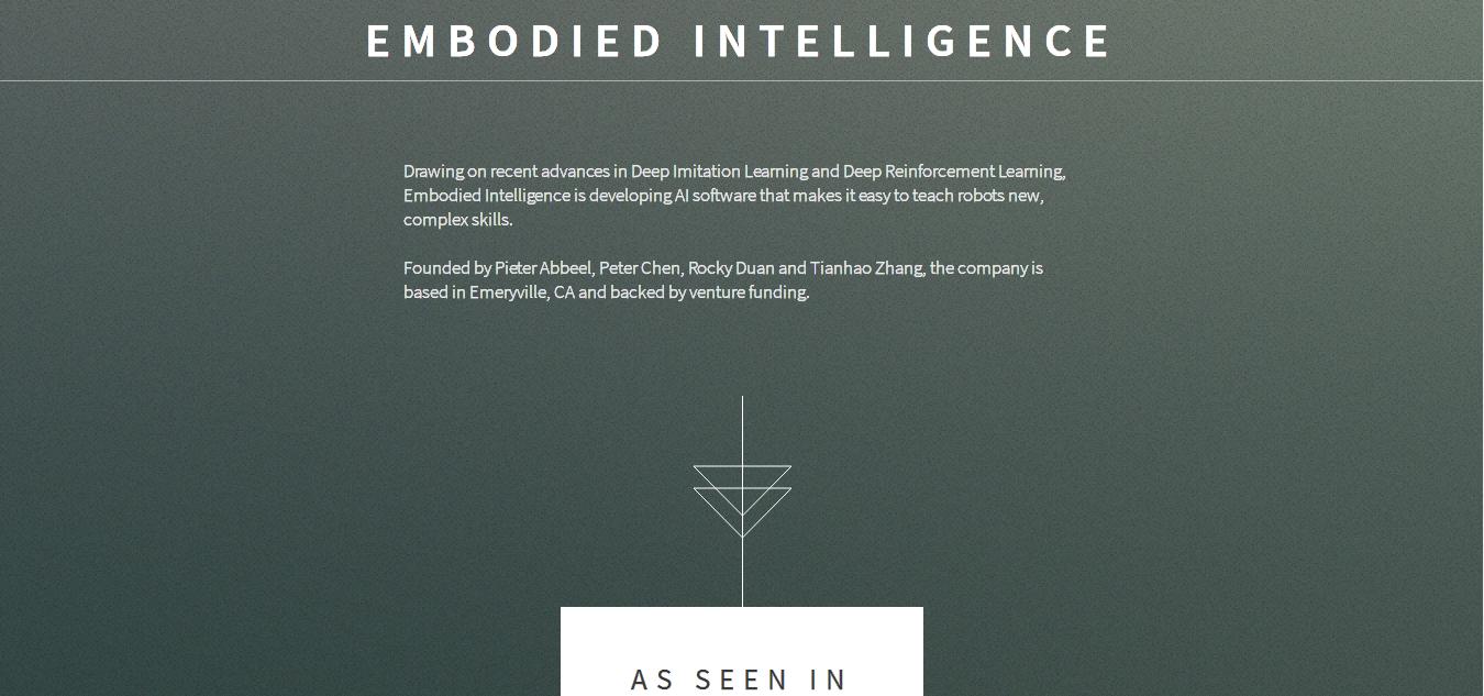 Embodied Intelligence